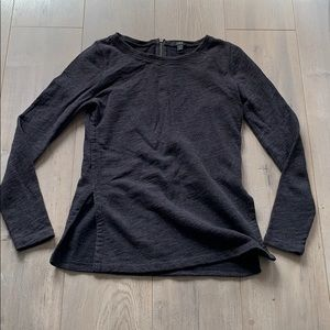 JCrew dark heathered grey/black sweater small